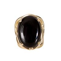 Anel pedra Ônix preto - Athena