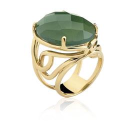 quartzo verde facetado