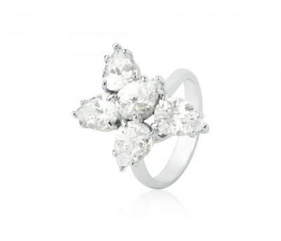Anel gotas diamantes