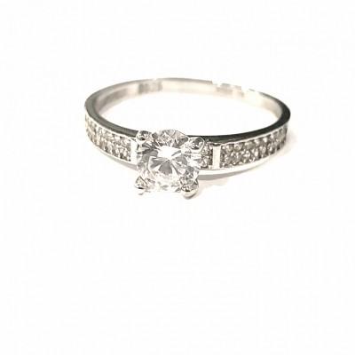 Anel solitário Tiffany- prata 925
