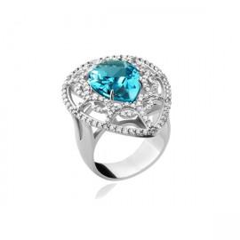Anel Gota safira azul