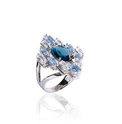 Anel crista azul montana